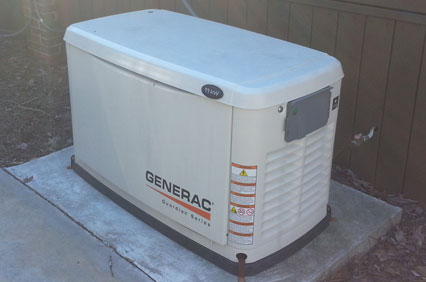 Generators for a back up power supply